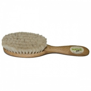Natur Pur Wooden Baby Hairbrush with Soft Goats Bristles