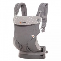 Ergobaby 360 Baby Carrier with Infant Insert Value Pack Dewy Grey