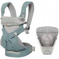 Ergobaby 360 Cool Air Four Position Baby Carrier with Infant Insert Value Pack Icy Mint