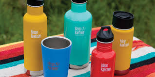 Klean Kanteen reusable water bottles and cups