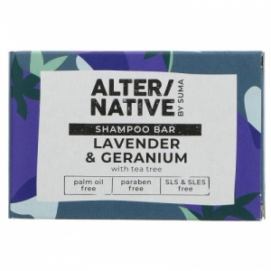 Alter/native Moisturising and Nourishing Shampoo Bar - Zero Plastic - Lavender and Geranium
