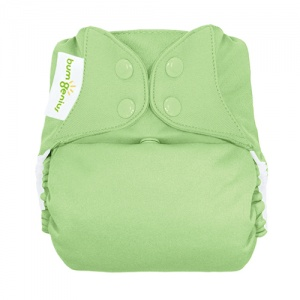 bumGenius Freetime All-In-One One-Size Cloth Nappy Grasshopper