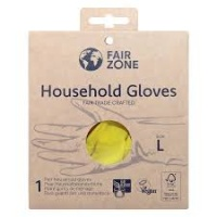 FairZone Natural Rubber Washing Up Gloves Fair Trade Crafted