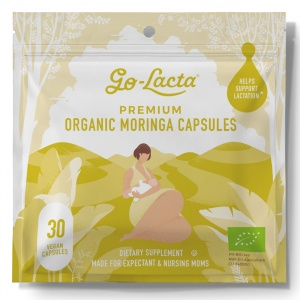 Go-Lacta Premium Malunggay Breastfeeding Supplement - Clinically Proven To Support Lactation (30 capsules)