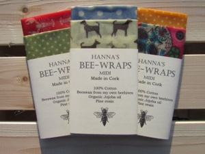 Hanna's Beeswax Wraps - Midi Duo - Replaces Cling Film (2 Pack)
