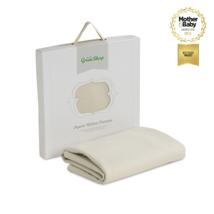 The Little Green Sheep Organic Cotton Mattress Protector Cot Bed