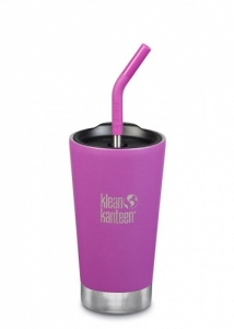 Klean Kanteen Insulated Tumbler - Perfect for Smoothies and Iced Drinks - 473ml/16oz Berry Bright