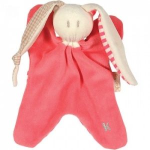 Keptin Jnr Toddel - Organic Cotton Baby Comforter / Soft Toy - Coral