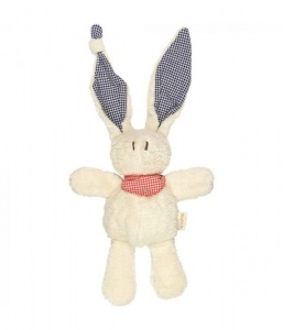 Keptin Jnr Tjumm Soft Bunny Organic Cotton Recycled Water Bottles Filling - Red Scarf