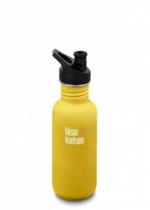 Klean Kanteen Classic Stainless Steel Reusable Water Bottle - 532 ml / 18 oz - Lemon Curry