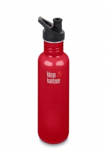 Klean Kanteen Classic Stainless Steel Reusable Water Bottle - 800ml / 27oz -  Mineral Red