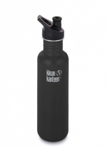 Klean Kanteen Classic Stainless Steel Reusable Water Bottle - 800ml / 27oz - Shale Black