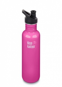 Klean Kanteen Brushed Classic Stainless Steel Reusable Water Bottle - 800ml / 27oz -  Wild Orchid