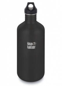 Klean Kanteen Classic Stainless Steel Reusable Water Bottle - 1900ml / 64oz Shale Black
