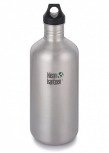 Klean Kanteen Classic Brushed Stainless Steel Reusable Water Bottle - 1900ml / 64oz