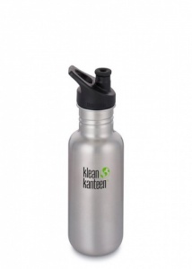 Klean Kanteen Classic Brushed Stainless Steel Reusable Water Bottle - 532 ml / 18 oz