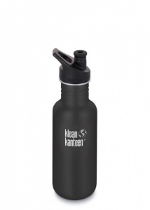 Klean Kanteen Classic Stainless Steel Reusable Water Bottle - 532 ml / 18 oz - Shale Black