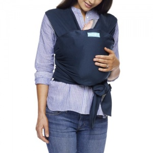 Moby Wrap Classic Stretchy Baby Carrier from Newborn  - Midnight Blue