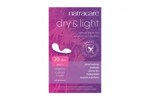 Natracare Natural Organic Dry and Light Slim Incontinence Pads 20s