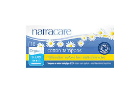 Natracare Tampons 100% Organic Cotton and Nothing Else Super Applicator 16s
