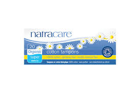 Natracare Tampons 100% Organic Cotton and Nothing Else Super Non Applicator 20s