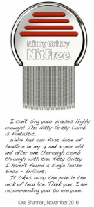 Nitty Gritty Comb - Quickly and Easily Removes Head Lice and Nits