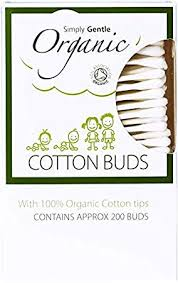 Simply Gentle Paper Stem Cotton Buds with 100% Organic Cotton Tips