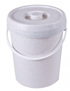 Nappy Bucket with Lid for Reusable Nappies 12 L