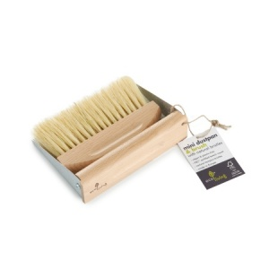 ecoLiving Plastic Free Dust Pan and Brush Mini Set