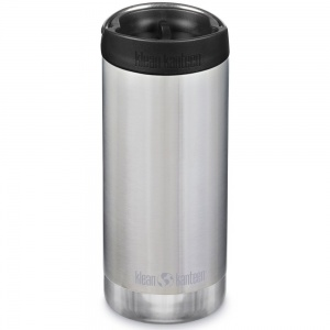 Klean Kanteen Insulated TK Wide - Perfect for Coffee or Cold Drinks On The Go 355ml/12oz Brushed Stainless Steel