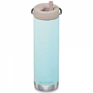 Klean Kanteen Insulated TK Wide with Twist Cap and Straw - 20oz/592ml Blue Tint