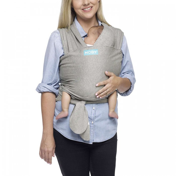 6b42a5257397 Moby Wrap Classic Stretchy Baby Carrier from Newborn - Grey ...