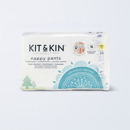 Kit /& Kin Eco Nappy Pants Size 5 Hypoallergenic and Sustainable 20 x 6 Packs, 120 Nappies