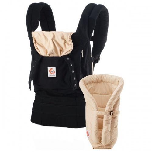 Ergobaby Original Carrier And Infant Insert Value Pack Black Camel