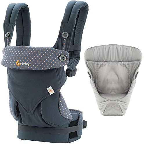 4466f3f4e44 Ergobaby 360 Baby Carrier with Infant Insert Value Pack Dewy Grey ...