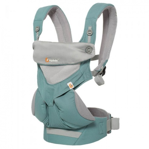 d636dbafd40 Ergobaby Cool Air 360 Four Position Baby Carrier Icy Mint Earthmother.ie