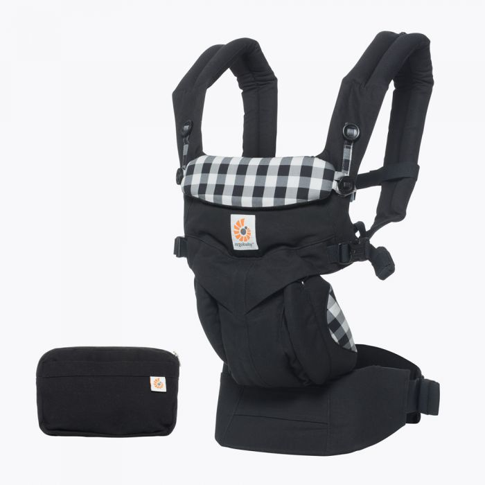 4cb3099a1cb Ergobaby Omni 360 Newborn to Toddler Baby Carrier Gingham Earthmother.ie