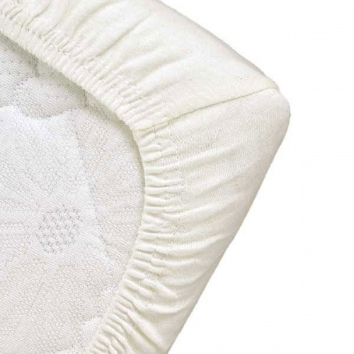 Popolini Organic Cotton Fitted Cot / Cot Bed Sheet White