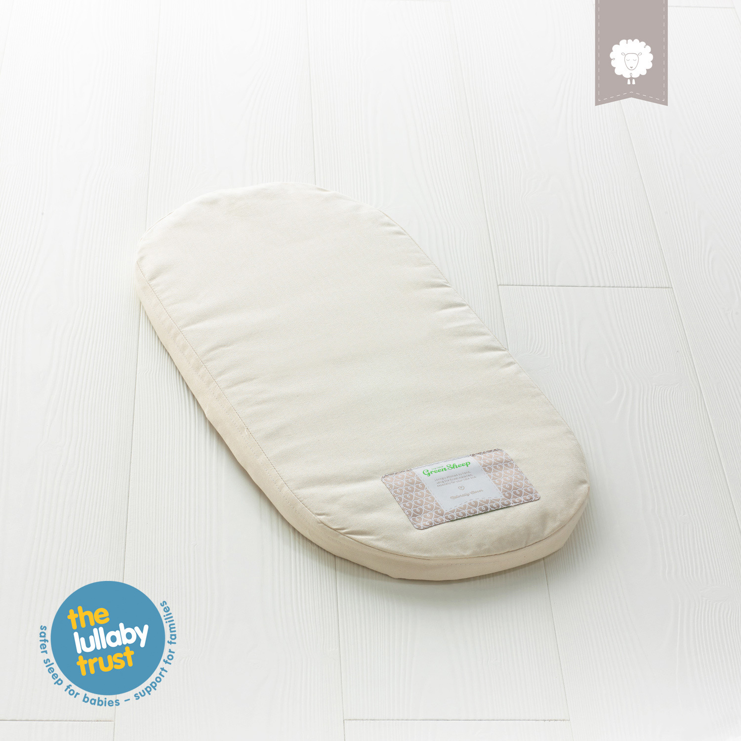 new arrival 19c6d 13903 The Little Green Sheep Natural Moses Basket Mattress