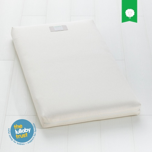 new product 784e0 d1bf8 The Little Green Sheep Organic Wool Cot / Cotbed Mattress