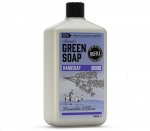 Marcels Hand Soap Refill in 100% Recycled Plastic Bottle - Lavender and Clove 1000ml