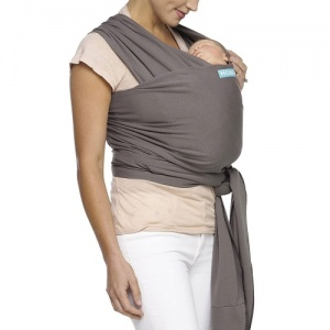Moby Wrap Classic Stretchy Baby Carrier from Newborn - Slate