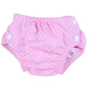 Popolini Reusable Swim Nappy Dots Pink