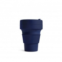 Stojo Reusable Coffee Cup - Collapses Down to Fit in Your Pocket or Bag - Denim