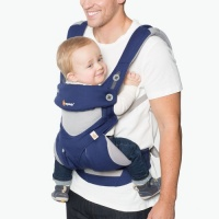 Ergobaby 360 Cool Air Four Position Baby Carrier French Blue
