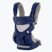 Ergobaby 360 Cool Air Four Position Baby Carrier with Infant Insert Value Pack French Blue