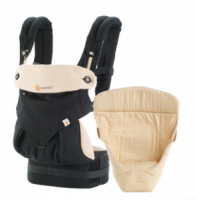 Ergobaby 360 Baby Carrier with Infant Insert Value Pack Black Camel