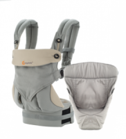 Ergobaby 360 Baby Carrier with Infant Insert Value Pack Grey