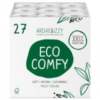 Archie and Izzy Irish Made Toilet Roll Plastic Free Bulk Buy 27 Rolls