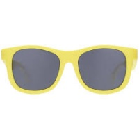 Babiators Navigator Sunglasses - Super Flexible Rubber Frames, 100% UV Protection - Hello Yellow